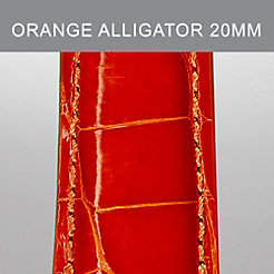 20mm Orange Alligator Strap