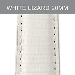20mm Bright White Lizard Strap