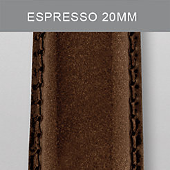 20mm Espresso Patent Leather Strap