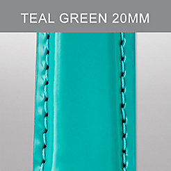 20mm Teal Green Patent Leather Strap