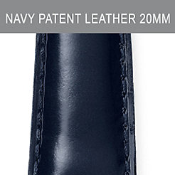 20mm Navy Patent Leather Strap