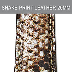 20mm Snake Print Leather Strap