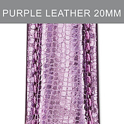 20mm Light Purple Leather Strap