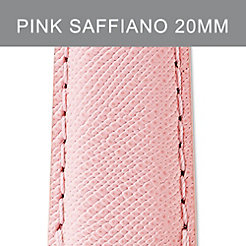 20mm Powder Pink Saffiano Strap