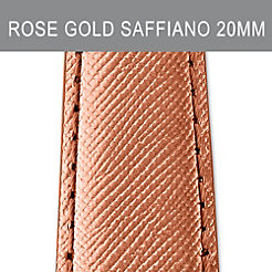 20mm Rose Gold Saffiano Strap