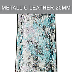 20mm Metallic Multi Leather Strap