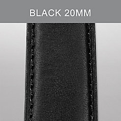 20mm Black Calf Skin Strap