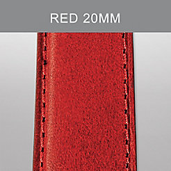 20mm Red Calf Skin Strap