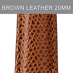 20mm Chestnut Leather Strap
