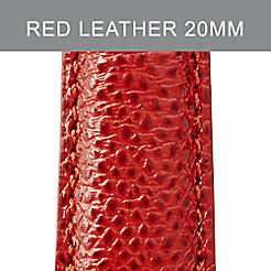 20mm Red Leather Strap