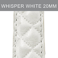 20mm Whisper White Quilted Leather Strap