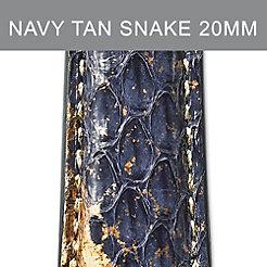 20mm Navy Tan Strap