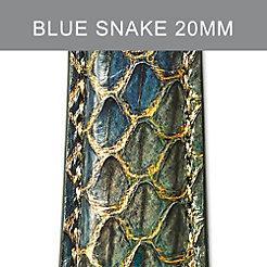 20mm Peacock Blue Strap