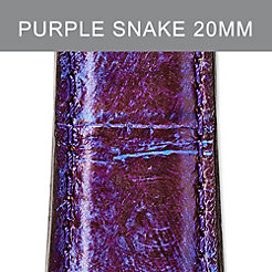 20mm Purple Snakeskin Strap