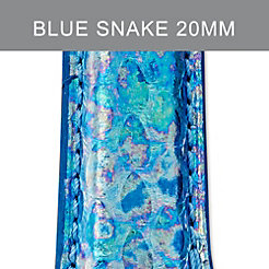 20mm Mirage Blue Fashion Snake Strap