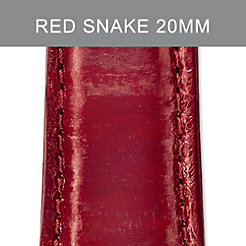 20mm Red Snakeskin Strap
