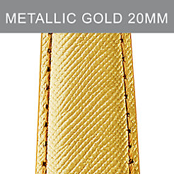 20mm Metallic Gold Leather Strap