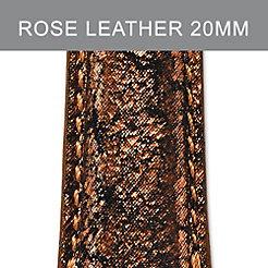 20mm Dark Rose Metallic Strap