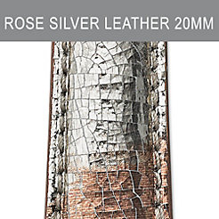 20mm Rose Silver Strap