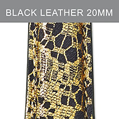 20mm Black Lace Fashion Leather Strap