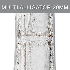 20mm Metallic Multi Fashion Alligator Strap