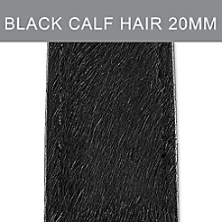 20mm Black Onyx Calf Hair Strap