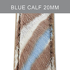 20mm Blue Zebra Strap