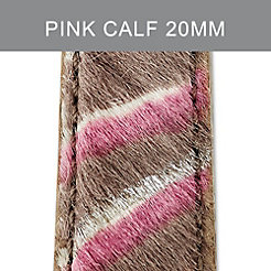 20mm Pink Zebra Strap