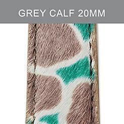 20mm Grey Cheetah Strap