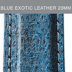 20mm Blue And Black Exotic Leather Strap