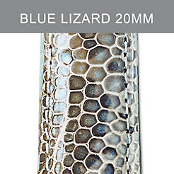 20mm Light Blue Multi Fashion Lizard Strap