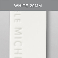 20mm White Silicone Strap