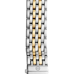 20 mm Deco XL 7-Link Two-Tone Gold Steel Bracelet