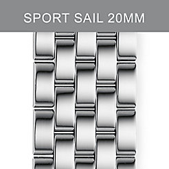 20mm Sport Sail Large 5-Link Stainless Steel Bracelet