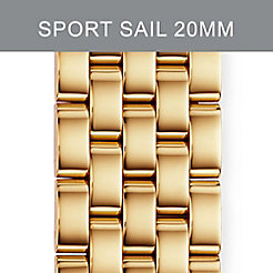 20mm Sport Sail Large Gold-Plated Bracelet