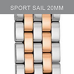20mm Sport Sail Large Two-Tone Rose Gold Bracelet
