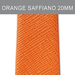 20mm Burnt Orange Thin Saffiano Strap