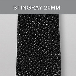20 mm Black Stingray Strap