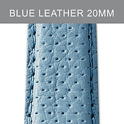 20mm Light Blue Perforated Leather