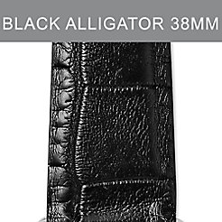 38mm Black Alligator Strap For Apple Watch