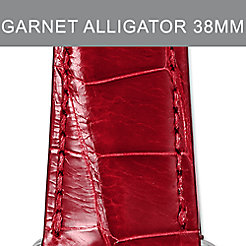 38mm Garnet Alligator Strap For Apple Watch