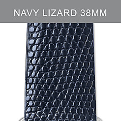 38mm Navy Lizard Strap For Apple Watch