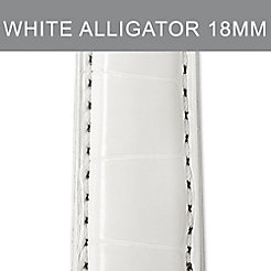 18mm Long White Alligator Strap