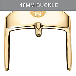 18 mm Silicone Strap Gold Buckle