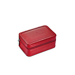Red Leather Travel Case