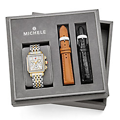 Deco Diamond, Two-Tone Diamond Dial Watch Box Set