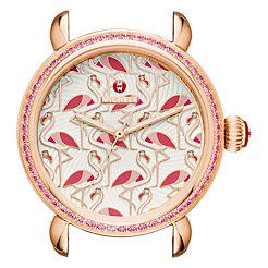 Exotic Creatures Topaz Rose Gold, Flamingo Diamond Dial