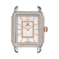 Deco II Mid Diamond Two-Tone Rose Gold, Diamond Dial