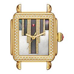 Deco Skyline Diamond Gold, Cocoa Diamond Dial