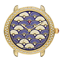 Serein 16 Diamond Gold, Blue Fan Diamond Dial